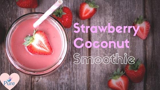 Strawberrycoconut smoothie