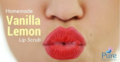 homemeade Vanilla lemon lip scrub