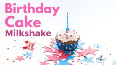 Birthday milkshake