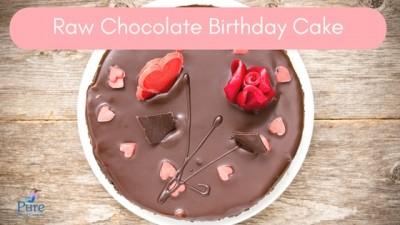 Raw Chocolate Birthday Cake